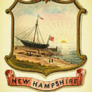 New Hampshire Coat Of Arms - 1876 Poster