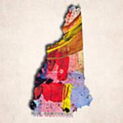 New Hampshire Map Art - Painted Map Of New Hampshire Poster