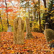 New Hampshire Mountain Cemetery Poster