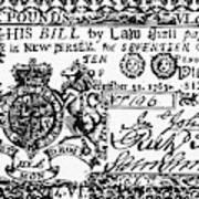 New Jersey Banknote, 1763 Poster
