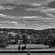 New Jersey Landscape With Horses Poster