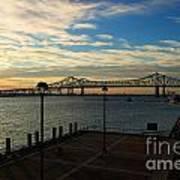 New Orleans Bridge Poster