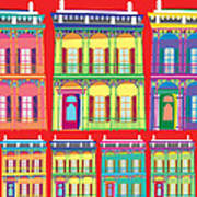 New Orleans Houses Poster