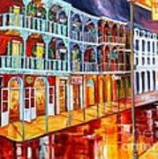 New Orleans Reflections In Red Poster