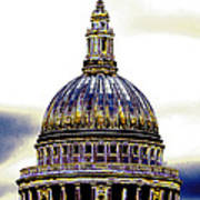 New Photographic Art Print For Sale   Iconic London St Paul's Cathedral Poster