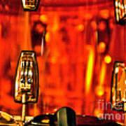 Transparent Orange Drum Backstage At The American Music Award Poster