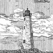 New Point Comfort Lighthouse Poster