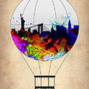 New York Air Balloon Poster