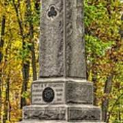 New York At Gettysburg - Monument To The 64th Ny Volunteer Infantry In The Rose Woods Poster