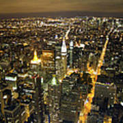 New York By Night Poster