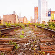 New York City - Abandoned Railroad Tracks Poster