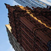 New York City - An Angled View Of The Potter Building At Sunrise Poster