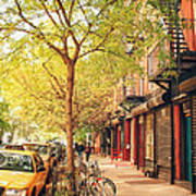 New York City - Autumn In The East Village  Poster