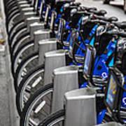 New York City Bikes Poster