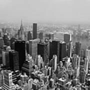 New York City Black And White Poster