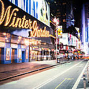 New York City - Broadway Lights And Times Square Poster