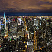 New York City By Night Poster