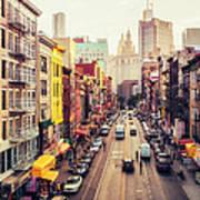 New York City - Chinatown Street Poster