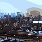 New York City Evening Sky Poster