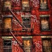 New York City Graffiti Building Poster