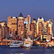New York City Midtown Manhattan At Dusk Poster