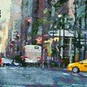 New York City Morning In The Street Poster