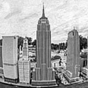 New York City Skyline - Lego Poster by Edward Fielding