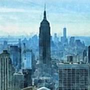 New York City Skyline Summer Day Poster