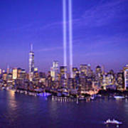 New York City Tribute In Lights World Trade Center Wtc Manhattan Nyc Poster
