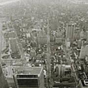 New York From The Trade Towers Poster