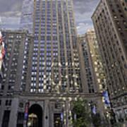 New York In Vertical Panorama Poster