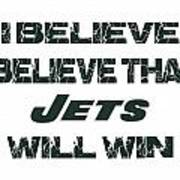 New York Jets I Believe Poster