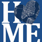 New York Map Home Heart - New York City New Yorkroad Map In A He Poster