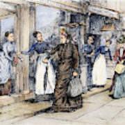 New York Milliner, 1889 Poster