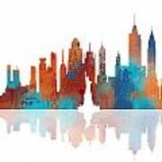New York New York Skyline  Poster