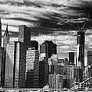 New York Pano Bw I Poster