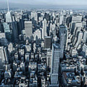 New York Panoramic View From Empire Poster