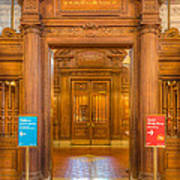 New York Public Library Main Reading Room Entrance I Poster