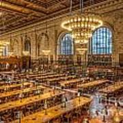 New York Public Library Main Reading Room Ix Poster