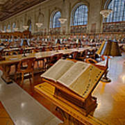 New York Public Library Rose Main Reading Room  Poster