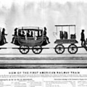 New York Railroad, 1832 Poster