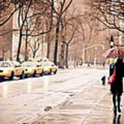 New York Rain - Greenwich Village Poster