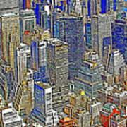 New York Skyline 20130430v5-square Poster