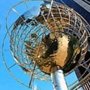 New York Steel Globe Poster