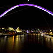 Newcastle Quayside And Sage Gateshead Poster