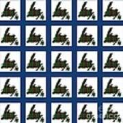 Newfoundland Tartan Map Blocks Blue Trim Poster
