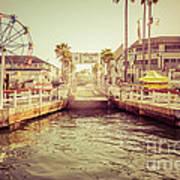 Newport Beach Balboa Island Ferry Dock Photo Poster by Paul Velgos