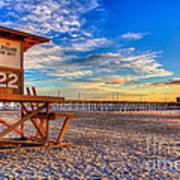 Newport Beach Pier - Wintertime  Poster by Jim Carrell
