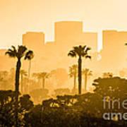 Newport Beach Skyline Morning Sunrise Picture Poster by Paul Velgos