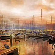 Newport Rhode Island Harbor I Poster